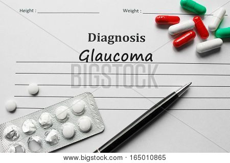 Glaucoma On The Diagnosis List, Medical Concept