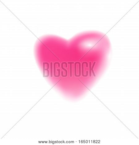Blurr heart symbol. Vector illustration. Icon for Valentines Day cards.