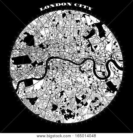 London Compass Design Map Artprint
