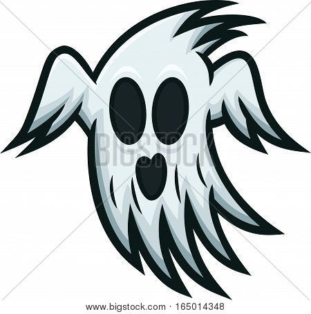 Ghost Horror Cartoon Character Isolated on White