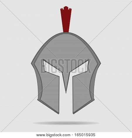 Spartan Helmet, Greek warrior, Gladiator - legionnaire heroic soldier - vector
