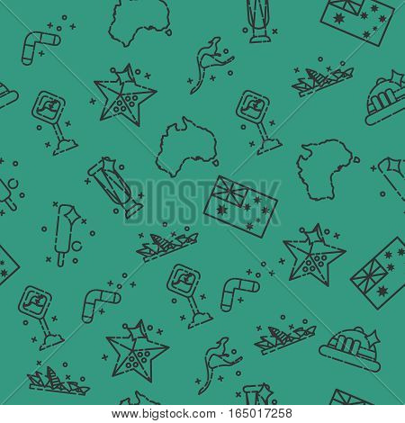 Australia set pattern. Vector illustration EPS 10