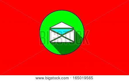 leter flat logo design vector illustrator with red background