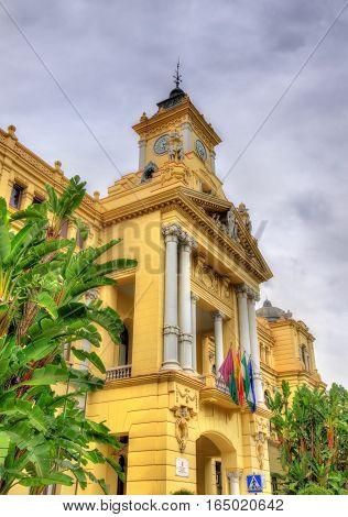 Ayuntamiento de Malaga, the City Council Building. Andalusia, Spain