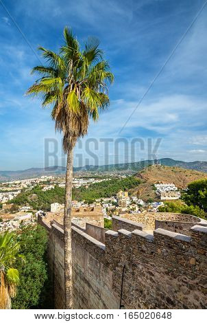 The Castle of Gibralfaro in Malaga - Andalusia, Spain