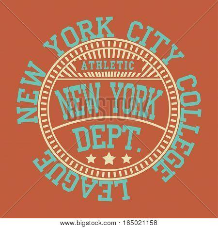 Fashion Typography Graphics. New York Sport Brooklyn team T-shirt Design, vector