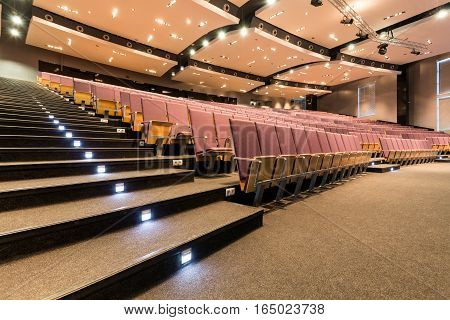 Lecture Room With Illuminated Stairs