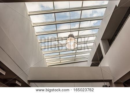 Modern Building With Glass Roof
