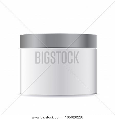 Cosmetic Container for Cream, Powder or Gel vector. mock up. Ready For Your Design.