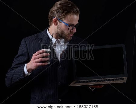 Thoughtful Business Man In Suit