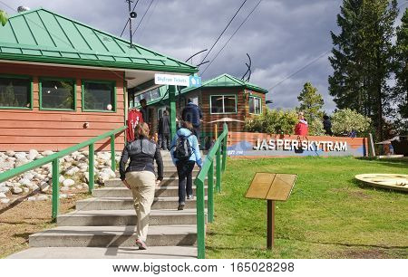 Jasper, Canada - September 10, 2016: Station At Jasper Skytram O