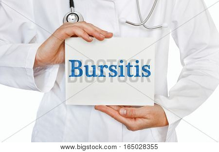 Bursitis Card In Hands Of Medical Doctor