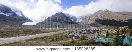 Jasper, Canada - September 7, 2016: Columbia Icefield On 7 Septe