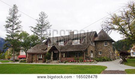 Jasper, Canada - September 8, 2016: Tourist Visitor Center On 8