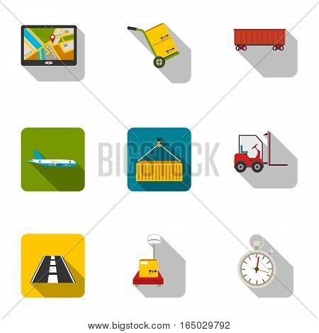 Logistic set icons in flat style. Big collection of logistic vector symbol stock
