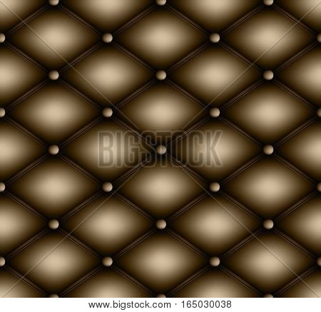 Quilted square seamless background pattern. Upholstery vector illustration.