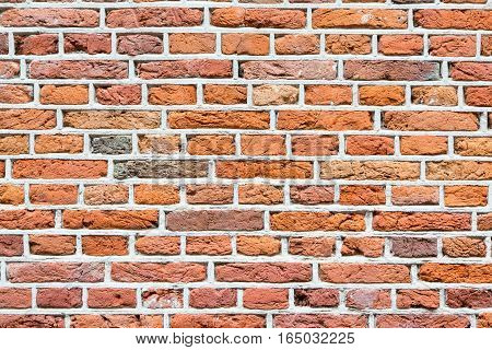 Abstract texture empty red brick wall background