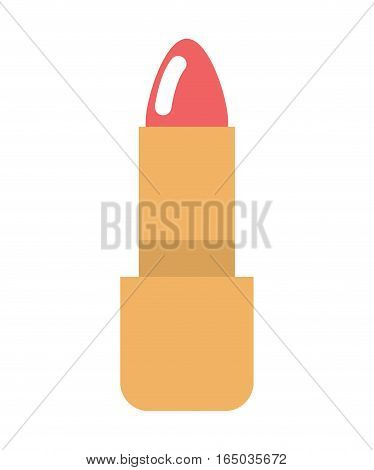 Red Lipstick Isolated. Make-up Women Accessory. Cosmetics On White Background