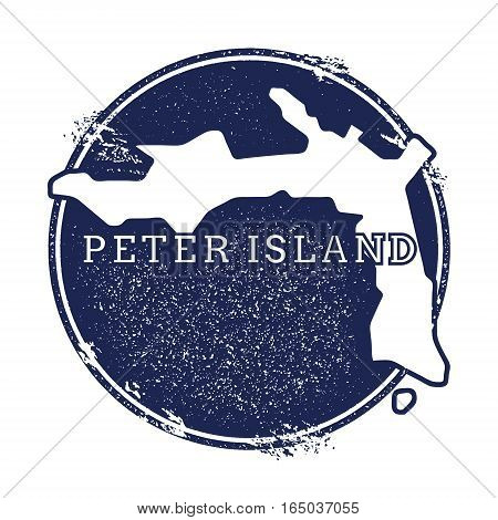 Peter Island Vector Map. Grunge Rubber Stamp With The Name And Map Of Island, Vector Illustration. C