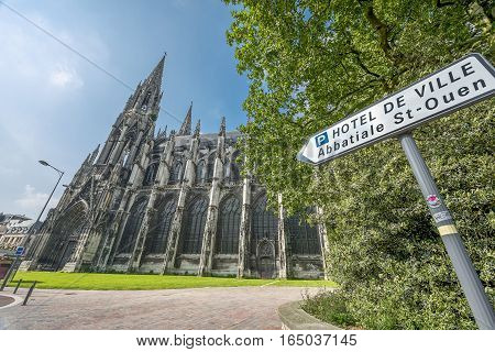ROUEN, FRANCE - JUNE 2016: At the city streets of Normandy capital