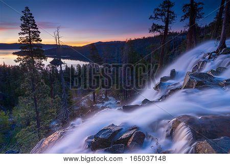 Eagle Falls is a waterfall in Lake Tahoe California