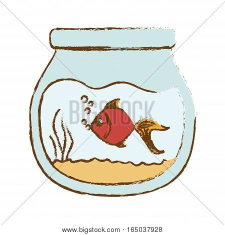 fish in bowl icon image vector illustration design
