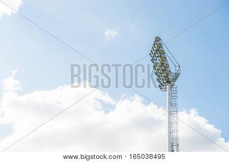 Spotlights Of A Soccer Field