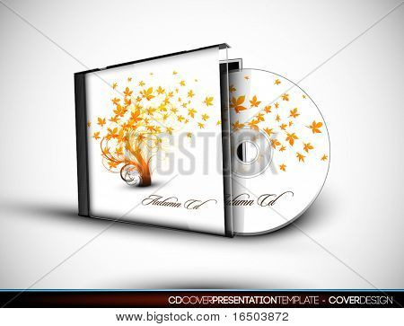 CD Flourish Cover Design with 3D Presentation Template | Everything is Organized in Layers Named Accordingly | To Change the Cover Design use the Cd and Cover Design Layers