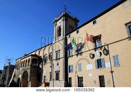 Palazzo Comunale town hall in Tarquinia Italy
