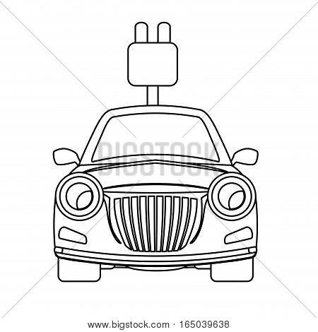 eco friendly car icon image vector illustration design