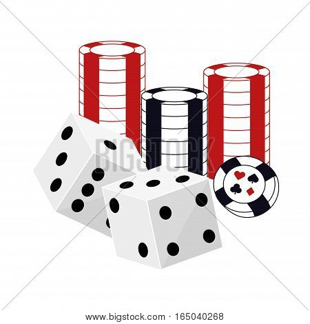 assorted games casino related icons image vector illustration design