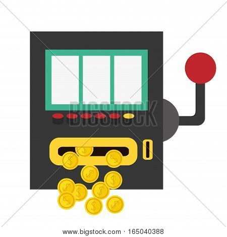 slot machine casino related icons image vector illustration design
