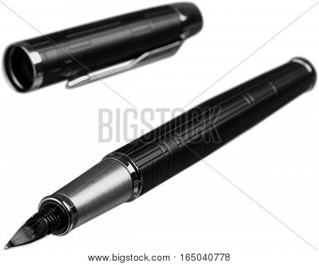 Parker Fountain Pen with Pen Cap - Isolated