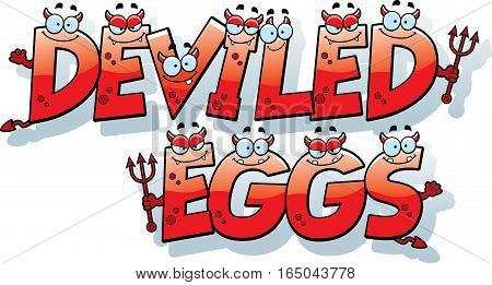 Cartoon Deviled Eggs Text