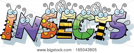 Cartoon Insects Text