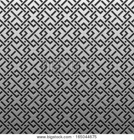 Silver/platinum Metallic Background With Geometric Pattern. Elegant Luxury Style.
