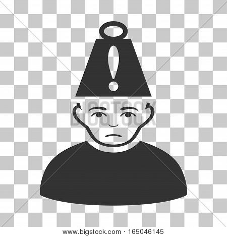 Head Stress vector pictogram. Illustration style is flat iconic gray symbol on a chess transparent background.