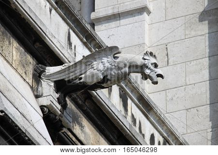 Gargoyle in the Basilica of the Sacre Coeur in Paris, France
