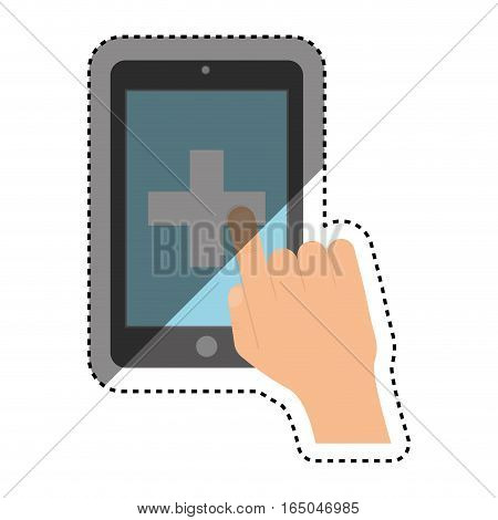 Medicine and technology icon vector illustration graphic design