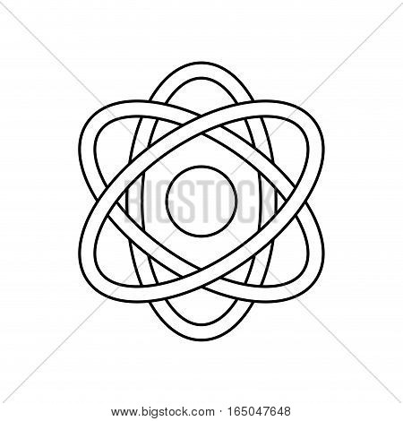 Atom science molecule icon vector illustration graphic design