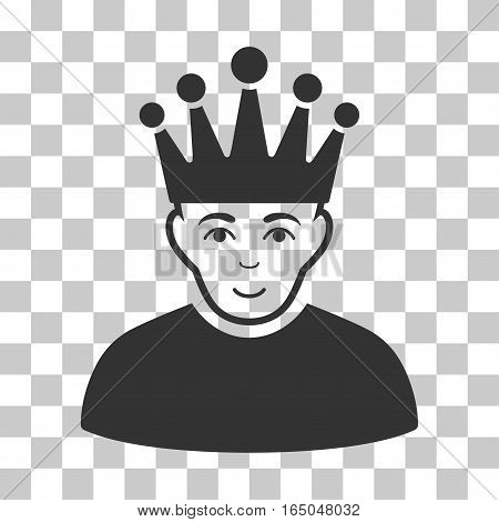 Moderator vector pictograph. Illustration style is flat iconic gray symbol on a chess transparent background.
