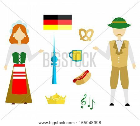 set in the style of a flat design on the theme of germany.