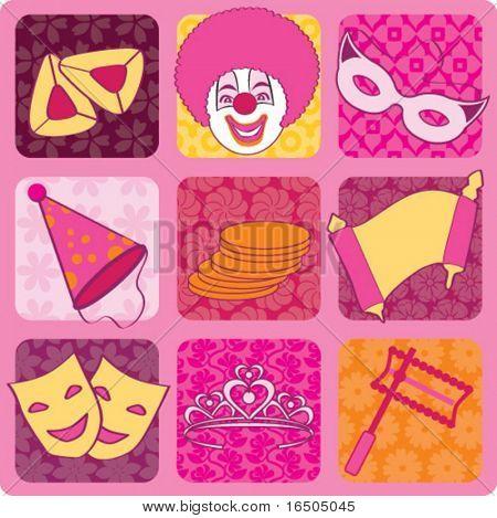 purim icons