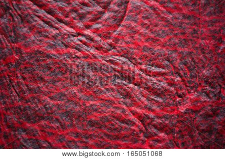 red abstract background texture faux leather with space for text