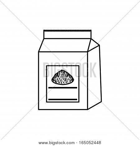Baking powder bag icon vector illustration graphic design