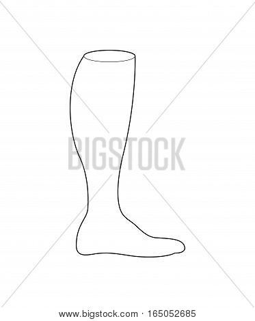 Football Socks For Design. Sports Clothing Line Style