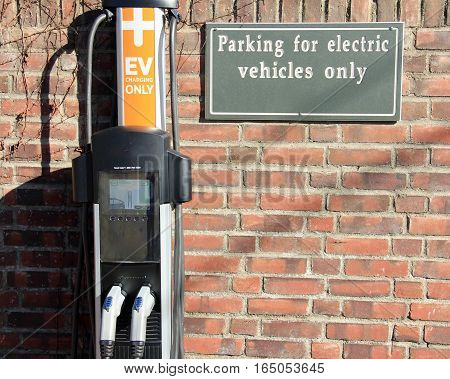 Charging station for electric vehicles. All copyright infringements removed.