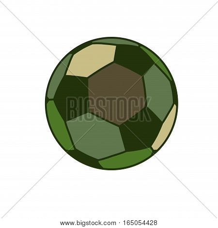 Army Sport Ball Isolated. Green Military Balls For Games On White Background Soldier Accessory