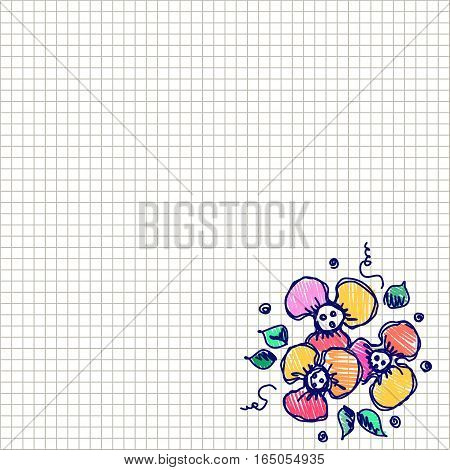 Vector Floral Card, Graphic Illustration