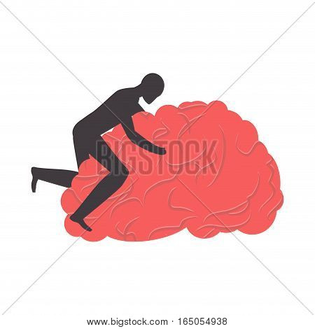 Sex to brain. brains. Vector illustration. bother symbol